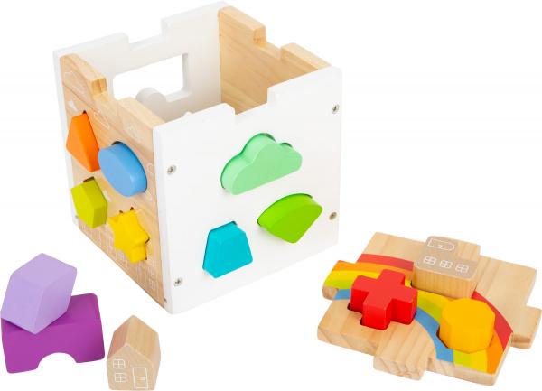 Cub sortator din lemn Curcubeu 1