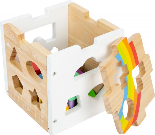 Cub sortator din lemn Curcubeu 6