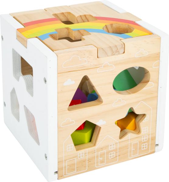 Cub sortator din lemn Curcubeu 8