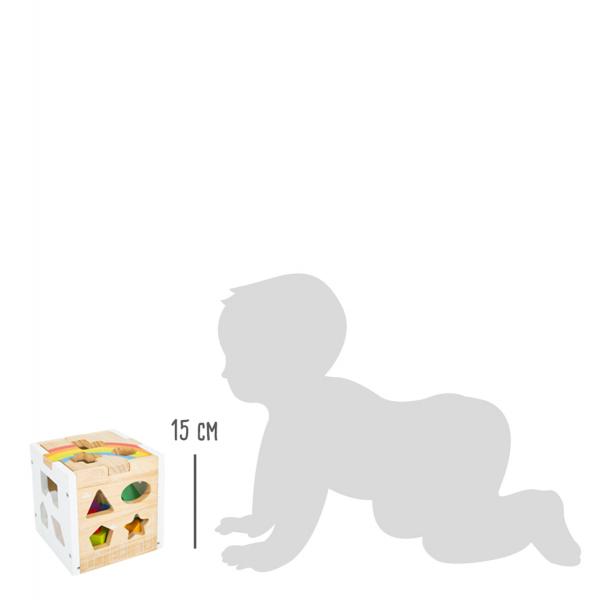 Cub sortator din lemn Curcubeu 9