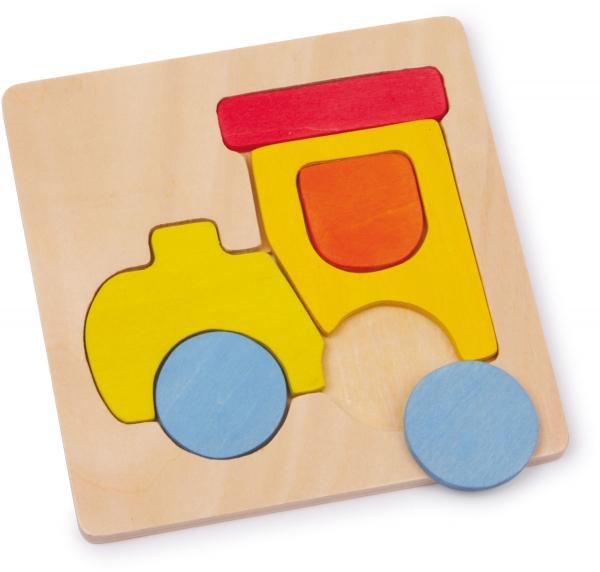 Set 4 puzzle-uri vehicule din lemn 1
