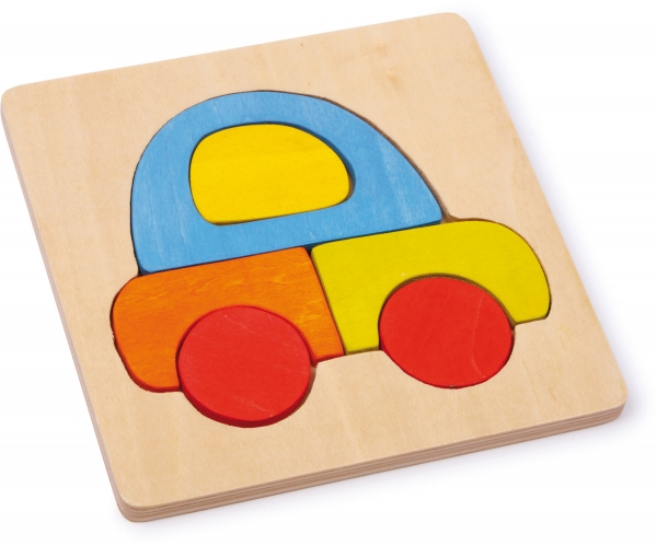 Set 4 puzzle-uri vehicule din lemn 5