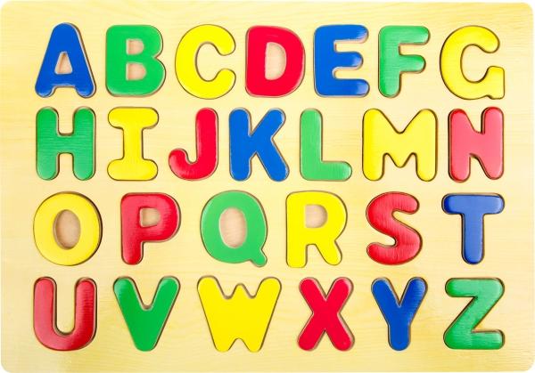 Puzzle lemn Invata literele 1
