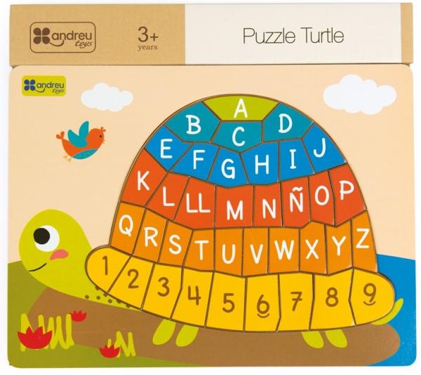 Puzzle testoasa alfabet 0