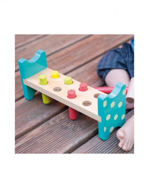 Joc bancuta cu ciocanel, din lemn, jucarie Montessori [1]