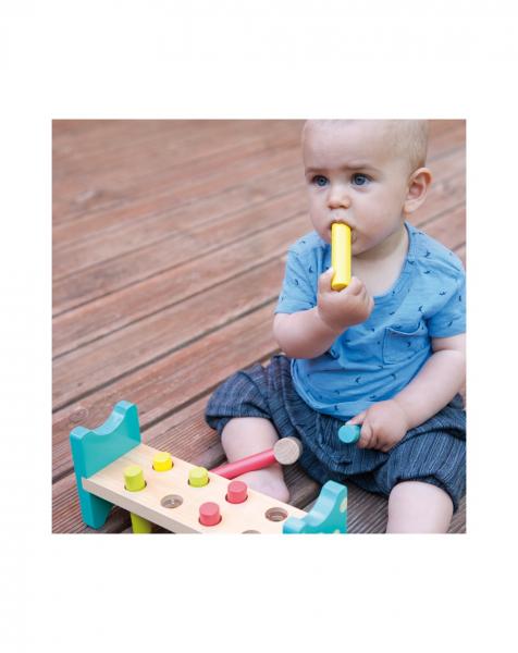 Joc bancuta cu ciocanel, din lemn, jucarie Montessori [2]