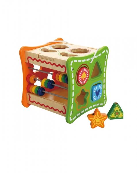 Cubul cu Flori, 5 activitati educative,12 forme, numaratoare si rotite interconectate 1