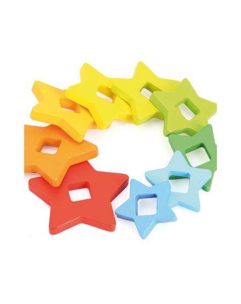 Set piramide curcubeu Montessori [4]