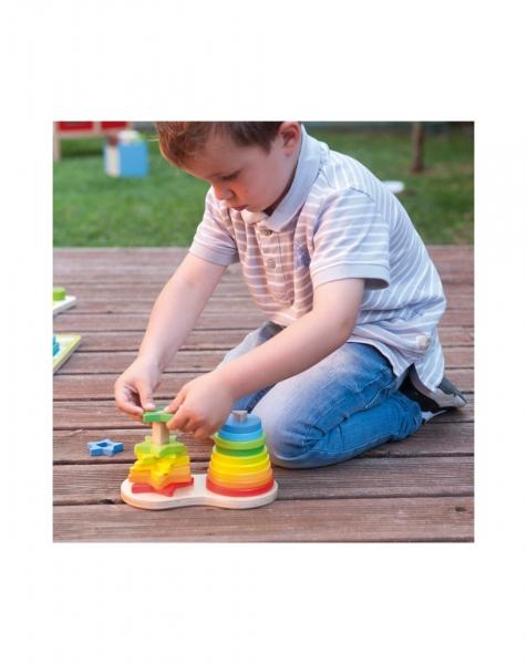 Set piramide curcubeu Montessori [1]