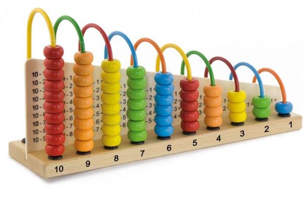 Abacul Colorat cu operatii matematice, din lemn [0]