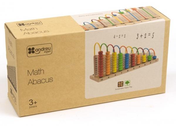 Abacul Colorat cu operatii matematice, din lemn [2]
