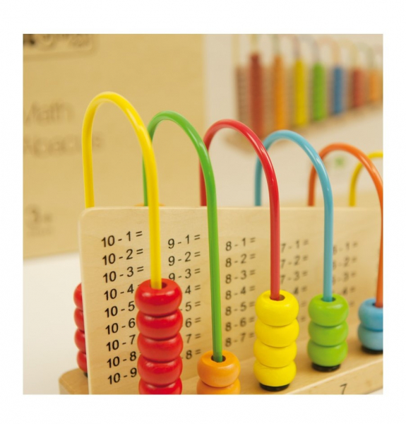 Abacul Colorat cu operatii matematice, din lemn [1]