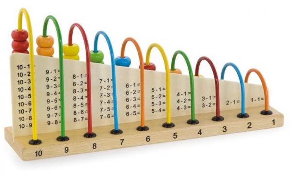 Abacul Colorat cu operatii matematice, din lemn [4]