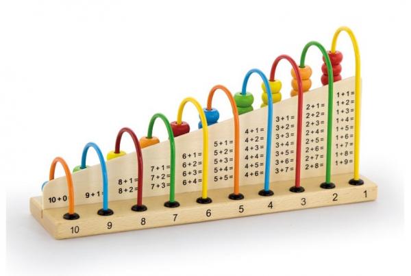 Abacul Colorat cu operatii matematice, din lemn [3]