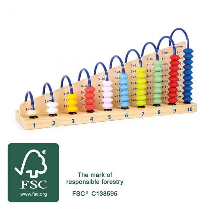 Abacul Colorat din lemn [1]