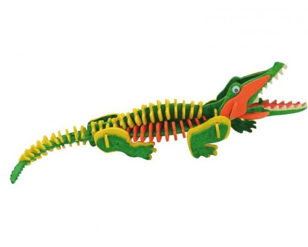 Schelet de crocodil, joc de pictat si asamblat, din lemn 2