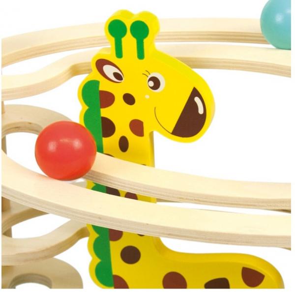 Circuit cu bile din lemn, paznic Girafa [1]