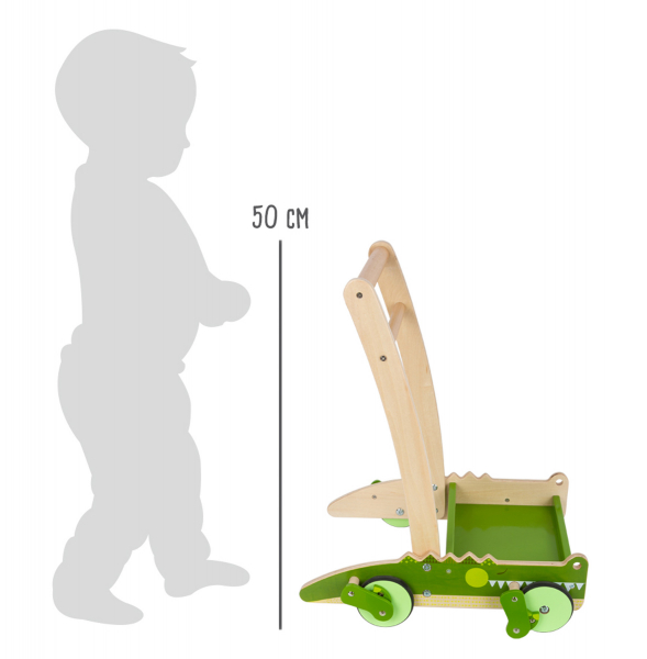 Crocodilul Plimbaret, antemergator din lemn cu 24 de cuburi 9