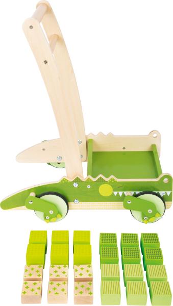 Crocodilul Plimbaret, antemergator din lemn cu 24 de cuburi 3