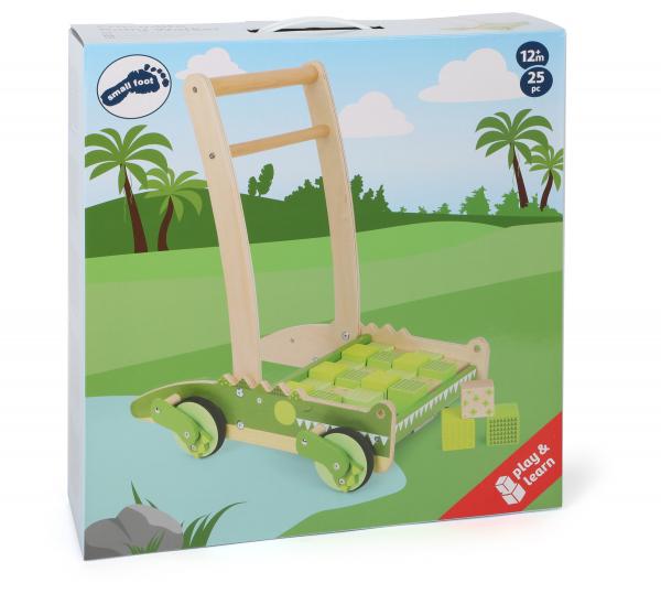 Crocodilul Plimbaret, antemergator din lemn cu 24 de cuburi 11