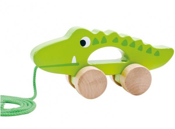 Crocodilul Plimbaret, jucarie de tras din lemn [0]