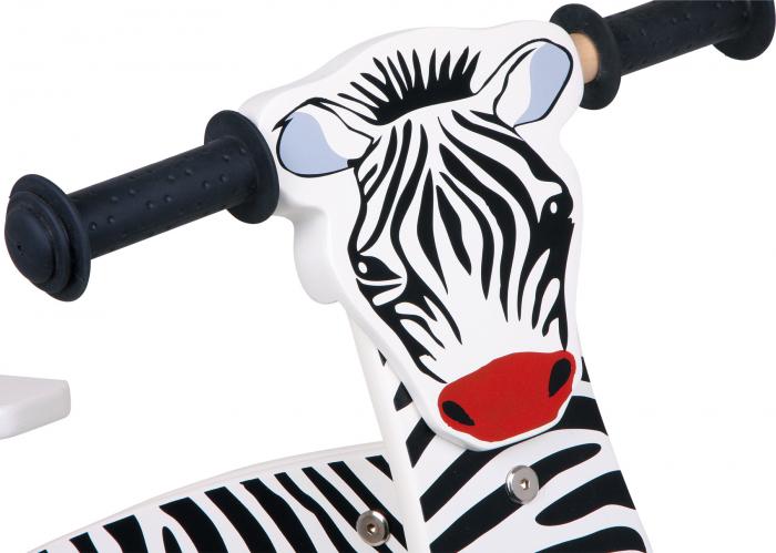 Bicicleta de echilibru din lemn, design Zebra 2