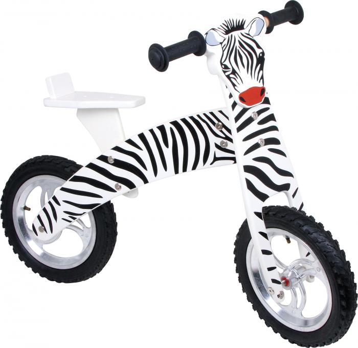 Bicicleta de echilibru din lemn, design Zebra 0