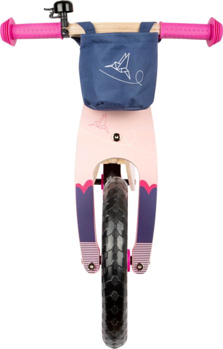 Bicicleta de echilibru din lemn Colibri in accente roz neon [6]