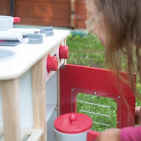 Bucataria rosie din lemn pentru 2 copii, 75.5 cm inaltime 11