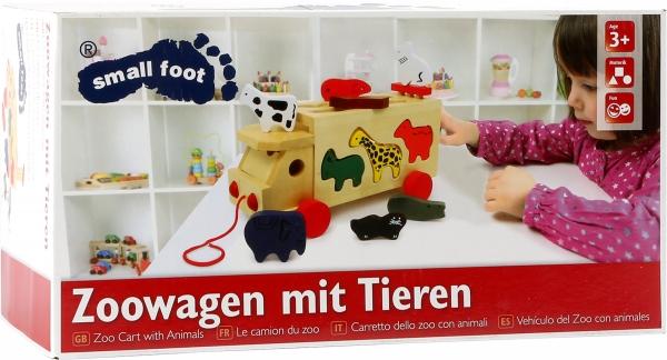 Camion de tras din lemn cu forme animale 1