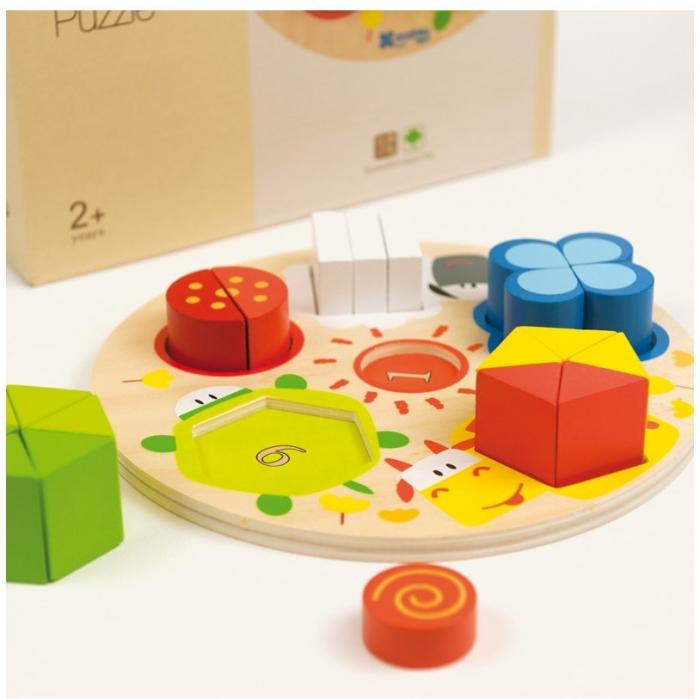 Forme, Fractii si Culori, puzzle educativ [1]