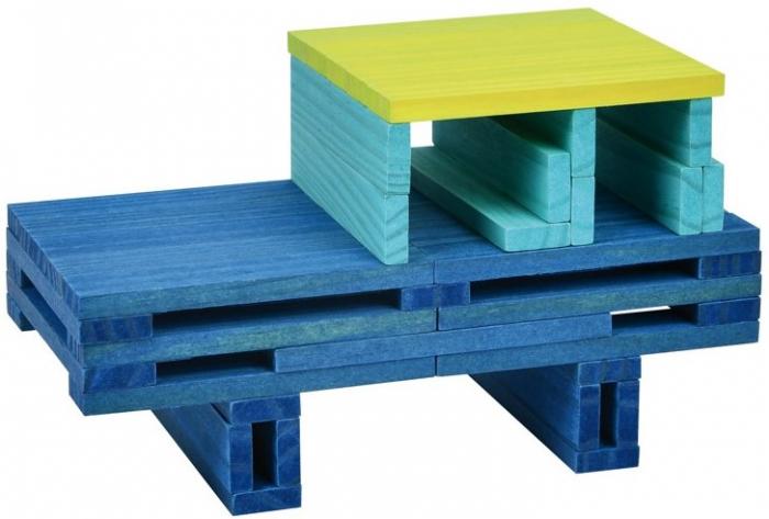 City Blocks, cuburi de lemn pentru construit in 4 culori 2