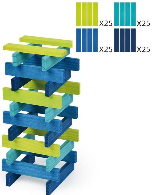 City Blocks, cuburi de lemn pentru construit in 4 culori 1