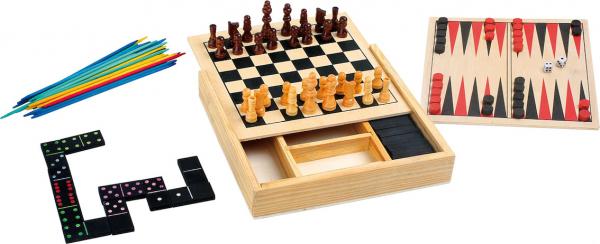 Colectia de 4 jocuri clasice din lemn 0