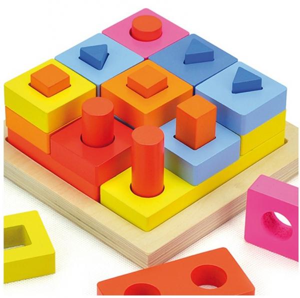 Puzzle educativ 3D Potrivire forme 1