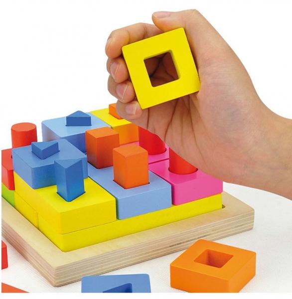 Puzzle educativ 3D Potrivire forme 2