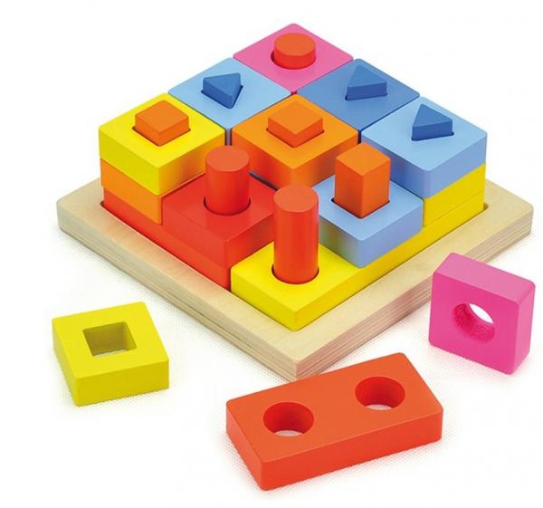 Puzzle educativ 3D Potrivire forme 0