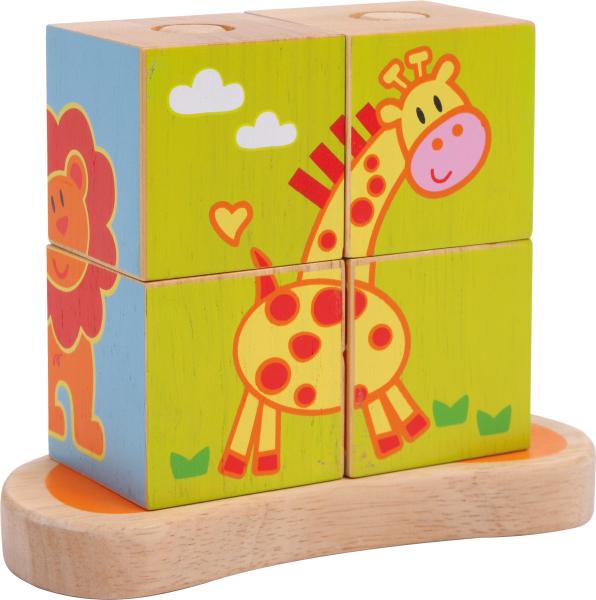 Cub Puzzle cu Animale 0