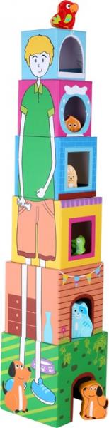 Cuburi de construit cu 6 figurine animale 3