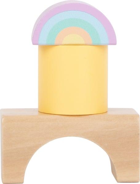 Cuburi de construit din lemn in culori pastelate 4