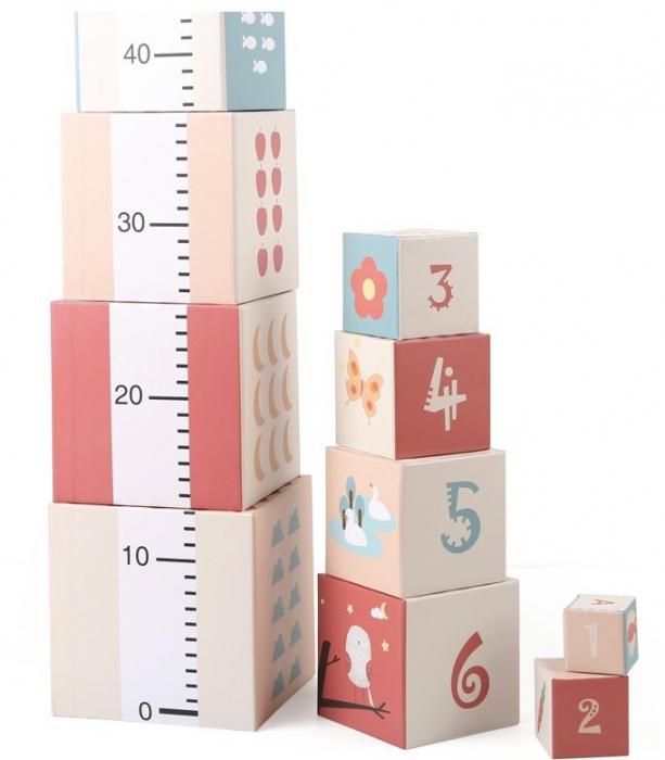 Turn de cuburi cu cifre, litere, animale si cantitati [2]