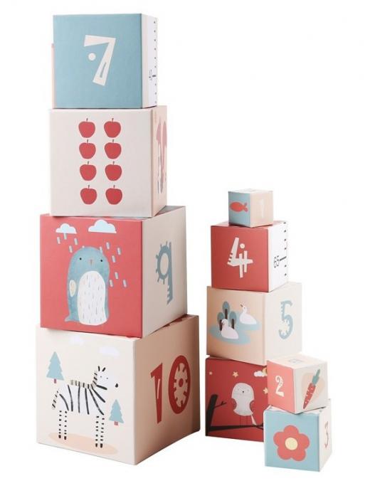 Turn de cuburi cu cifre, litere, animale si cantitati [0]