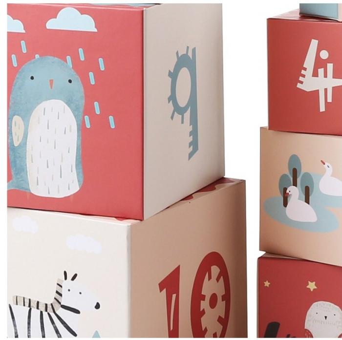Turn de cuburi cu cifre, litere, animale si cantitati [3]