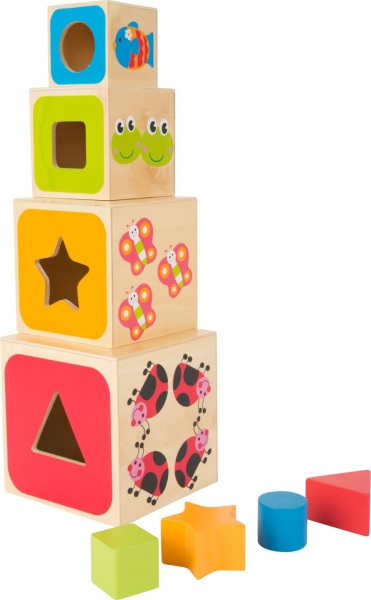 Cuburi mari din lemn ABC 0