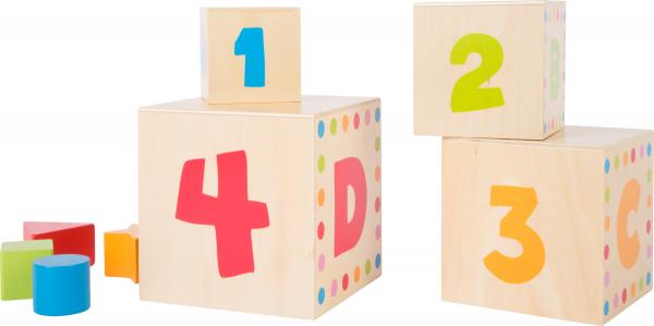 Cuburi mari din lemn ABC 4