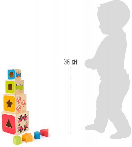 Cuburi mari din lemn ABC 2