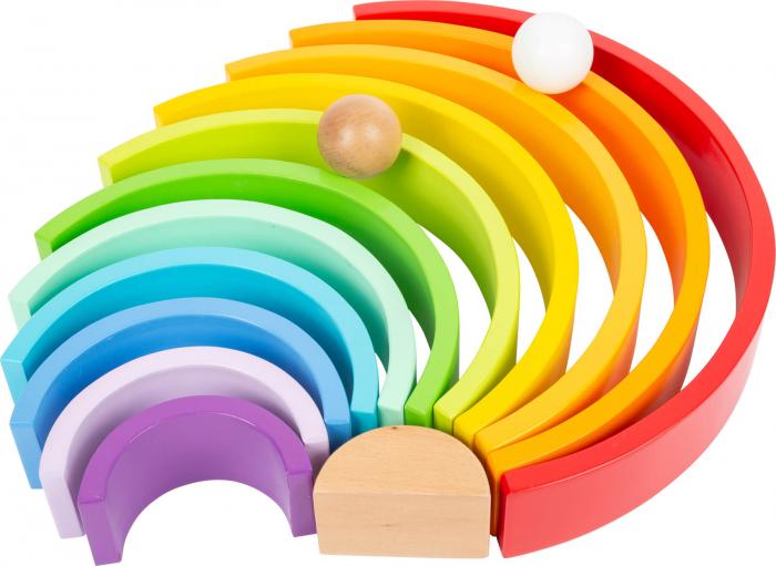 Forme de construit Curcubeu Montessori de dimensiuni extra-large, din lemn [4]