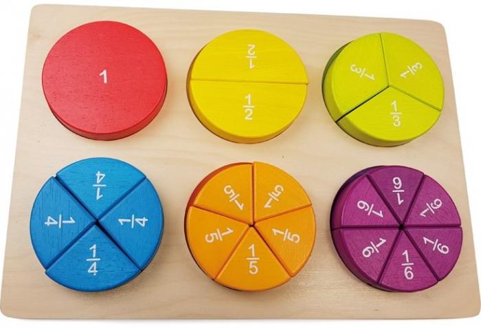 Fractii, puzzle educativ 3