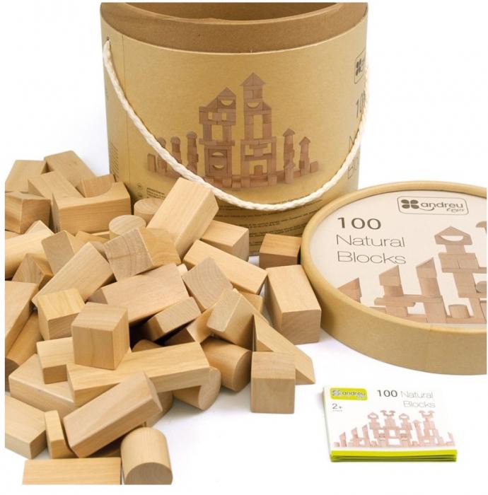 Maxi Galetusa cu 100 cuburi lemn 0