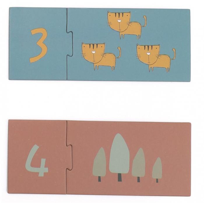 Invat sa numar de la 1 la 10, puzzle educativ 3